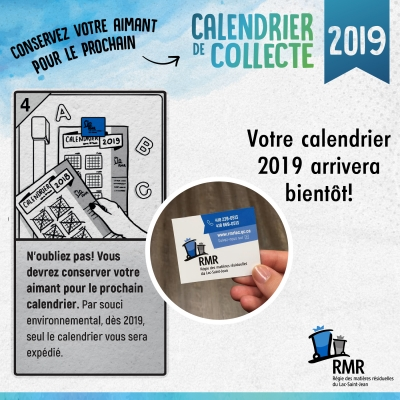 NOUVEAU CALENDRIER DE COLLECTE 2019