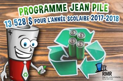 La Régie des matières résiduelles du Lac-Saint-Jean remet  13 528 $ pour l'année scolaire 2017-2018
