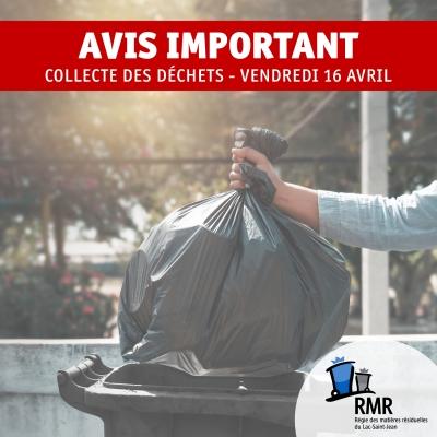La collecte des déchets est remise à lundi