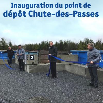 Inauguration du point de dépôt Chute-des-Passes